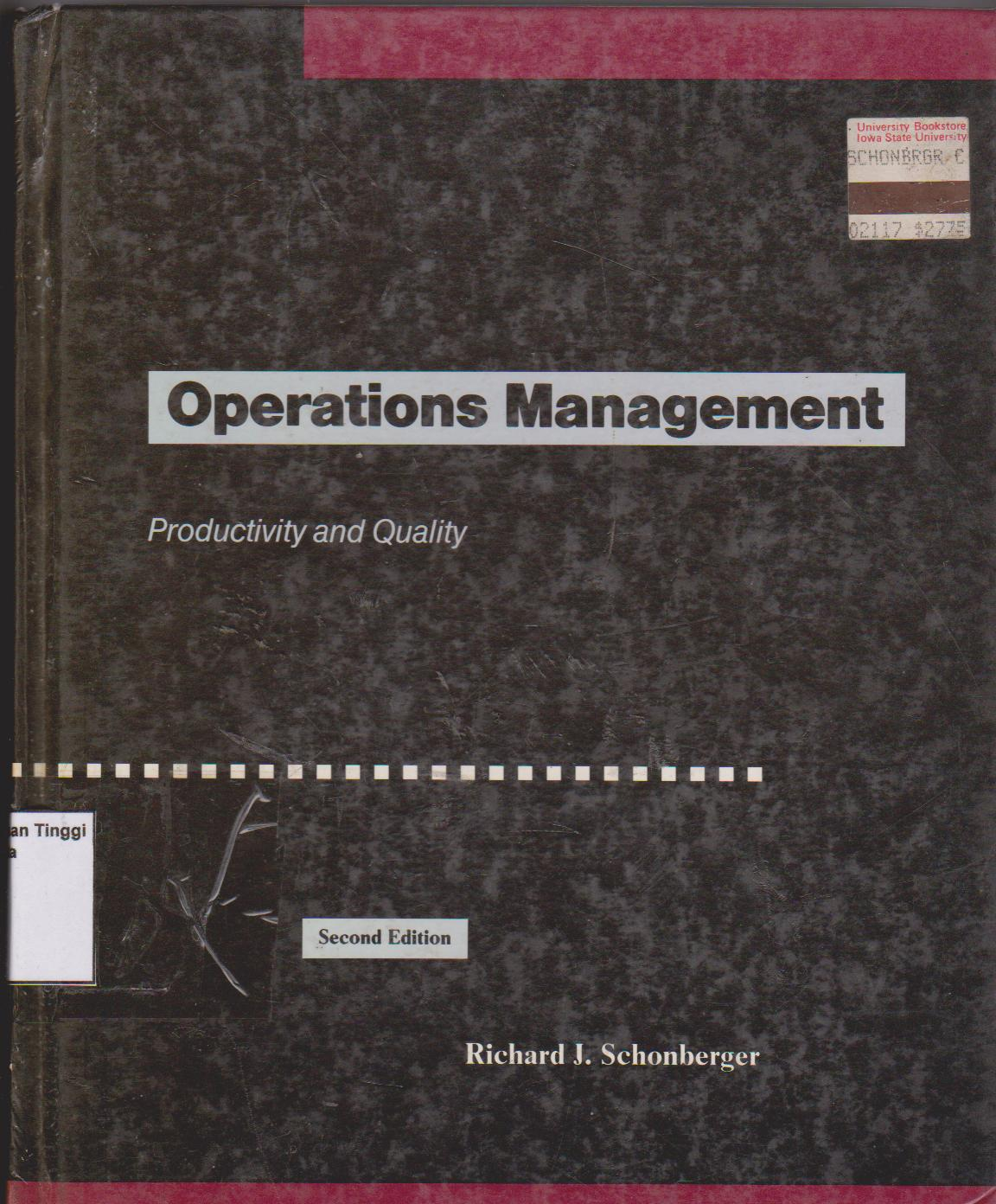 Operations management: productivity and quality second edition