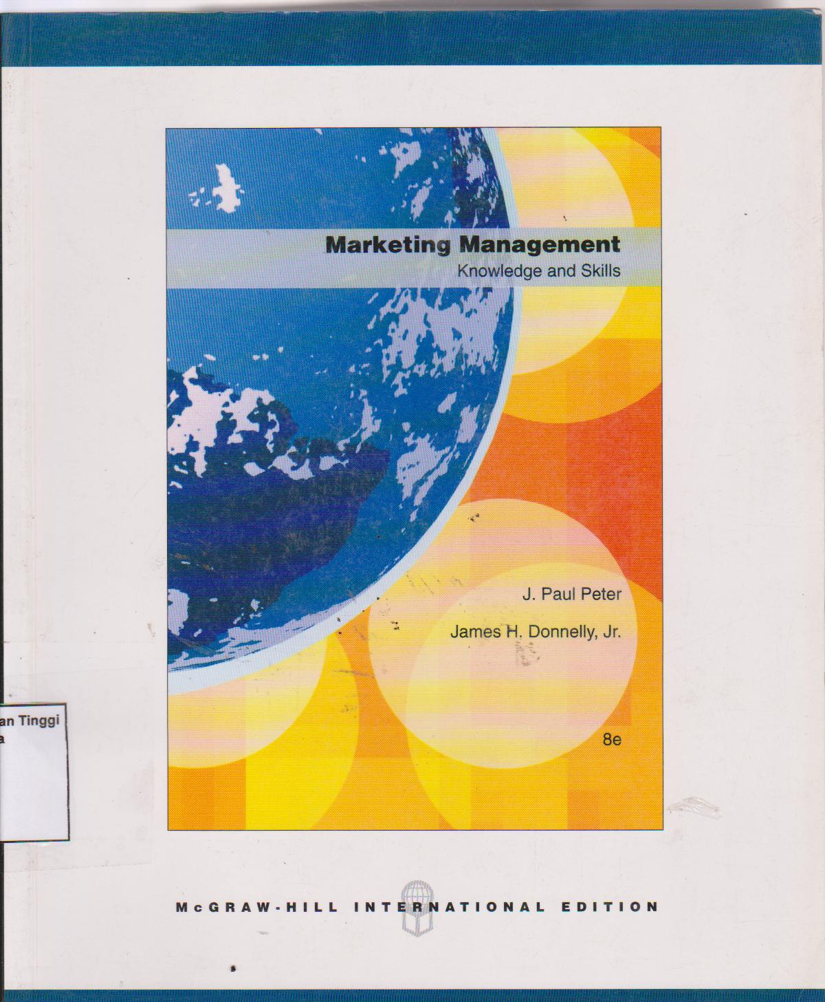 Marketing manajement: knowledge and skills